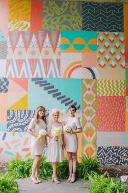 Mid Century Inspired Bridesmaids // Photography ~ Amanda Dumouchelle Photography