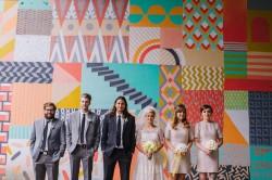 Mid Century Inspired Bridal Party // Photography ~ Amanda Dumouchelle Photography
