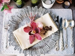 Wedding place setting // Photography ~ We Are Origami