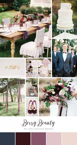 Berry Beauty - Wedding Inspiration Board in Blackberry & Plum