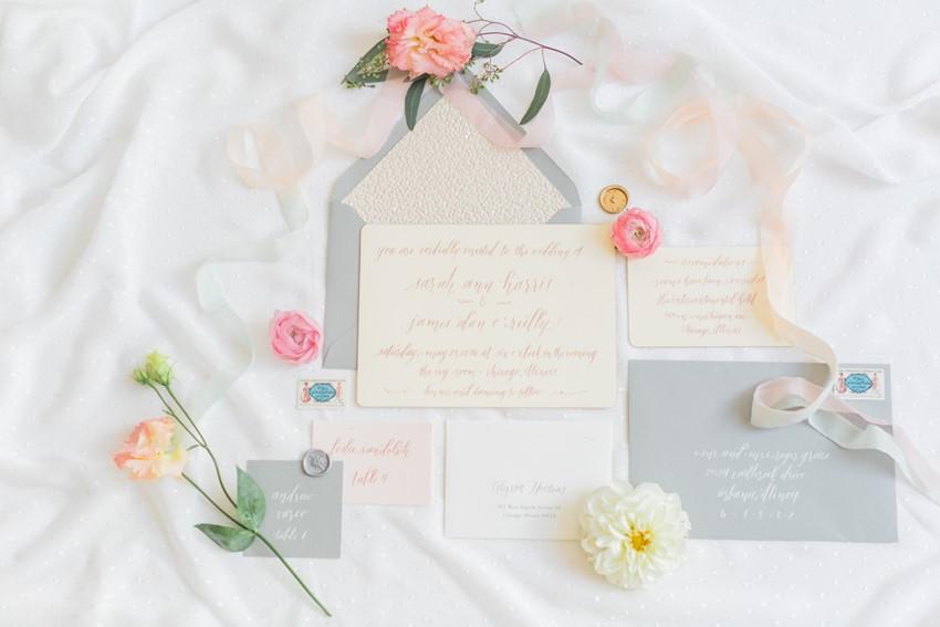 Elegant Spring Wedding Stationery // Photography ~ Alexis June Weddings