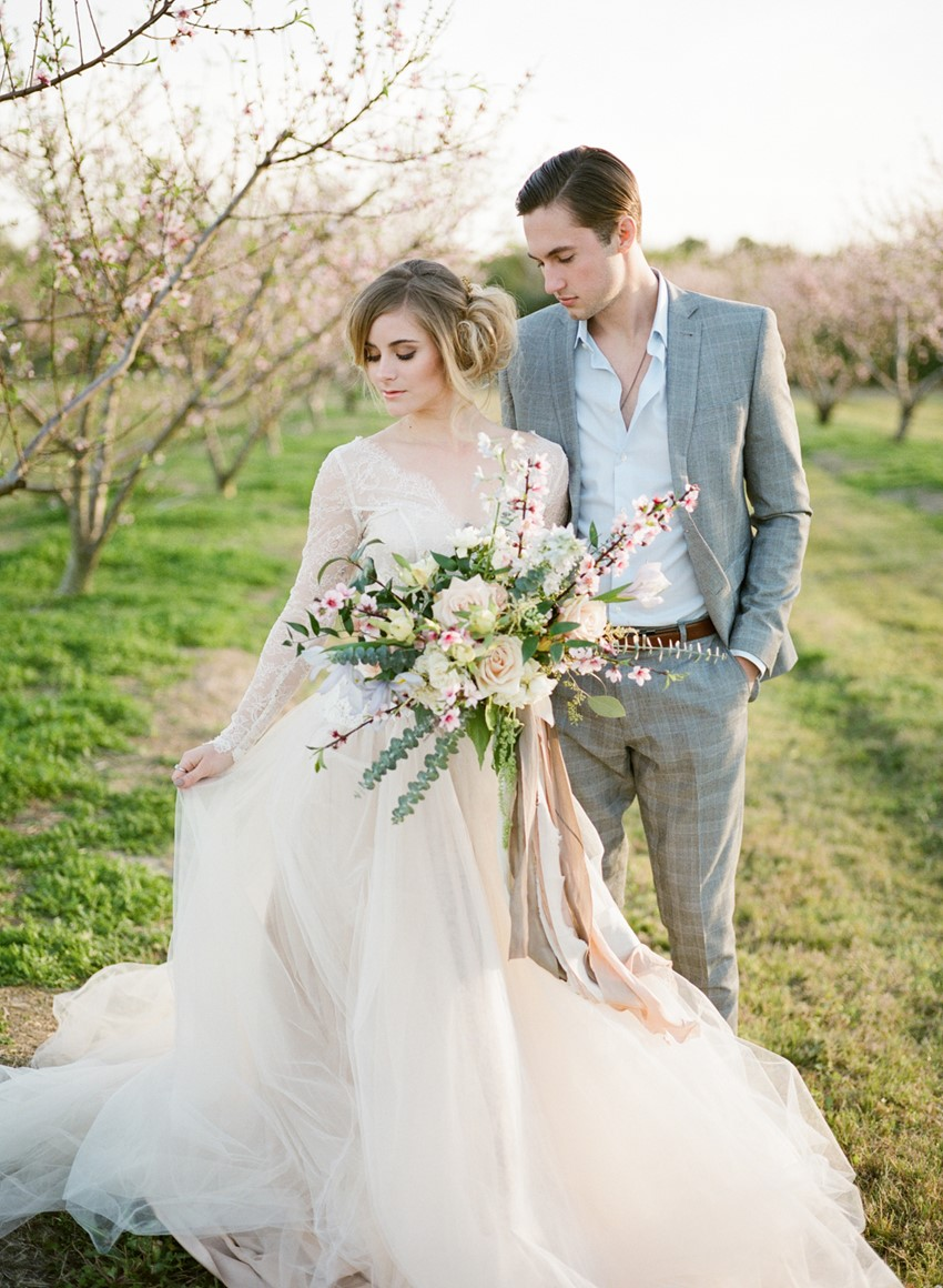 Romantic Springtime Orchard Elopement Inspiration // Photography ~ Archetype