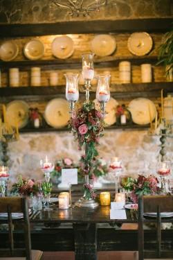 Rustic Vintage Autumn Wedding Centrepiece // Photography ~ Anna Roussos Photography