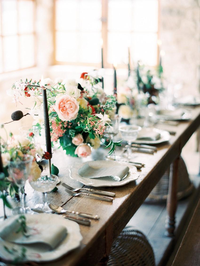 Romantic Modern Vintage Wedding Place Settings - Chic Vintage ...