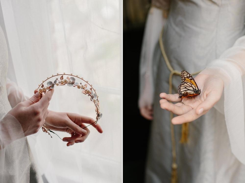 Rose Gold Bridal Hair Accessory from Erica Elizabeth Designs