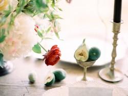 Romantic Modern Vintage Wedding Centrepiece // Photography ~ Rachel Solomon Photography