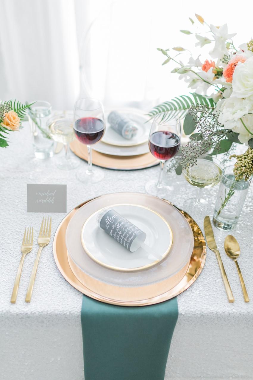 Elegant Wedding Place Setting // Photography ~ Alexis June Weddings