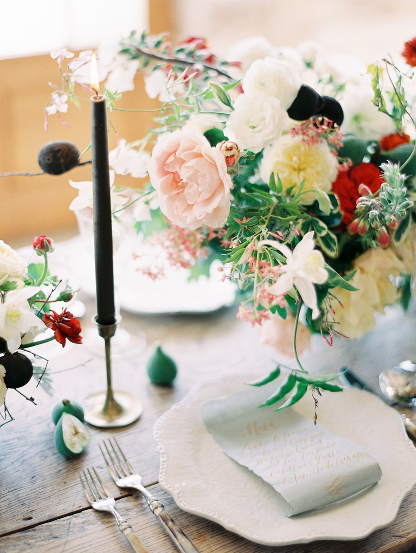 Romantic Modern Vintage Wedding Table Decor // Photography ~ Rachel Solomon Photography