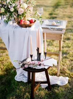 Romantic Springtime Elopement Decor // Photography ~ Archetype