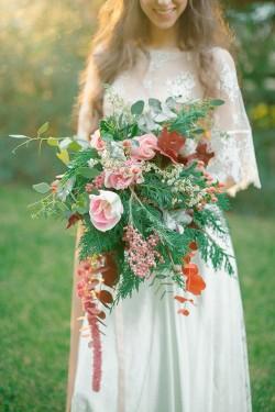 Vintage Boho Bridal Bouquet // Photography ~ Anna Roussos Photography