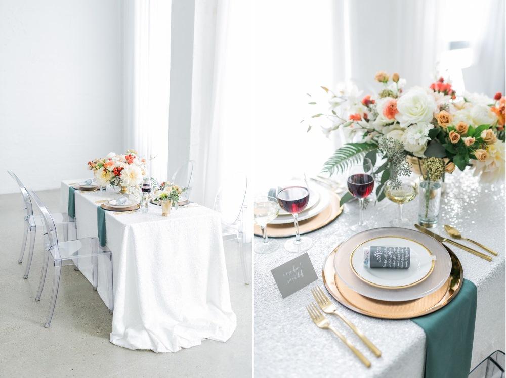 Modern Wedding Tablescape // Photography ~ Alexis June Weddings