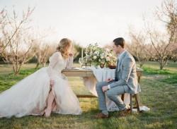 Romantic Springtime Orchard Elopement Inspiration // Photography ~ Archetype