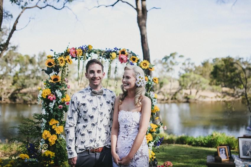DIY Wedding Aisle Arch // Photography ~ Brown Paper Parcel