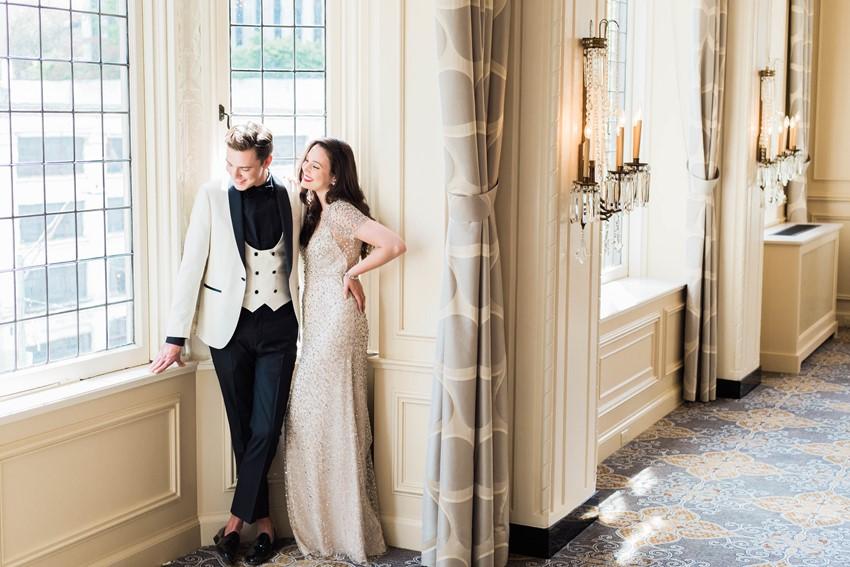 Romantic Gossip Girl Wedding Inspiration // Photography ~ Kerry Jeanne Photography