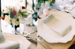 Romantic Modern Vintage Wedding Place Settings // Photography ~ Rachel Solomon Photography
