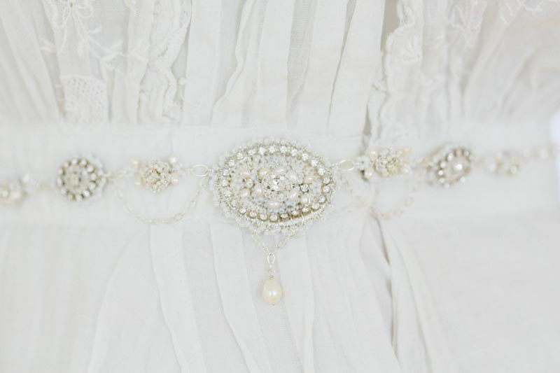 Vintage Inspired Bridal Sash from Edera Jewlery