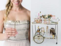 Wedding Drinks Cart // Photography ~ Alexis June Weddings