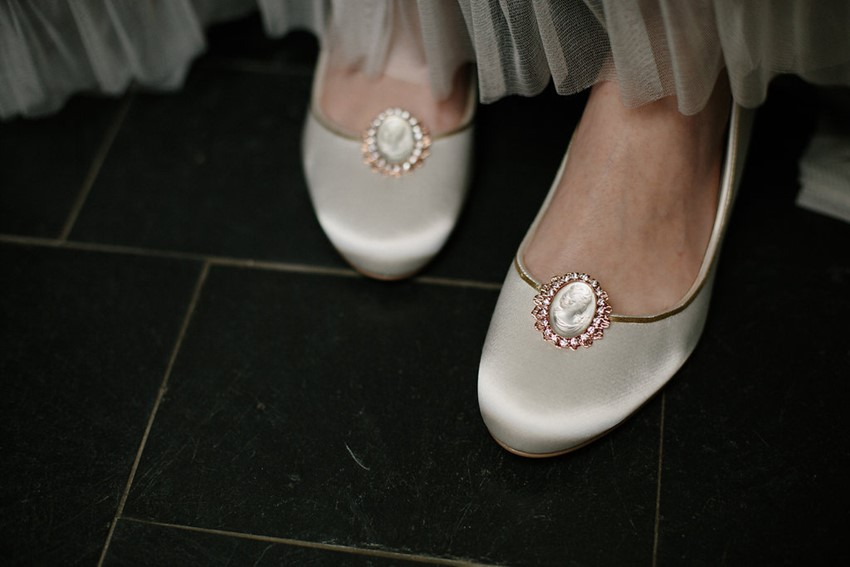 Rose Gold Bridal Shoe Clips from Erica Elizabeth Designs