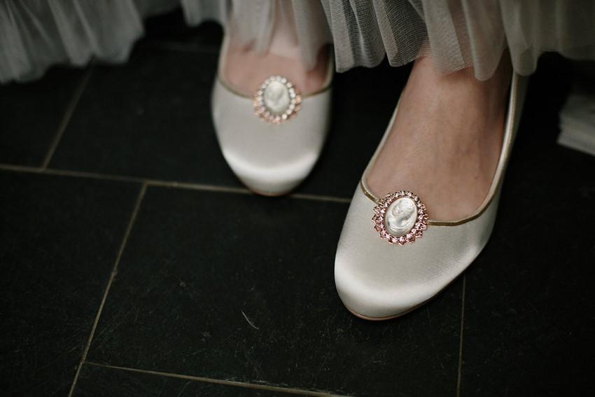Rose Gold Bridal Shoe Clips from Erica Elizabeth Designs
