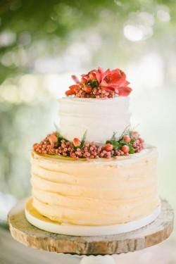 Romantic Vintage Boho Wedding Cake // Photography ~ Anna Roussos Photography