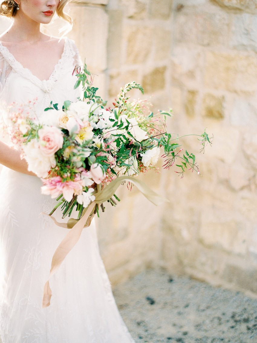 Romantic Modern Vintage Bridal Bouquet // Photography ~ Rachel Solomon Photography