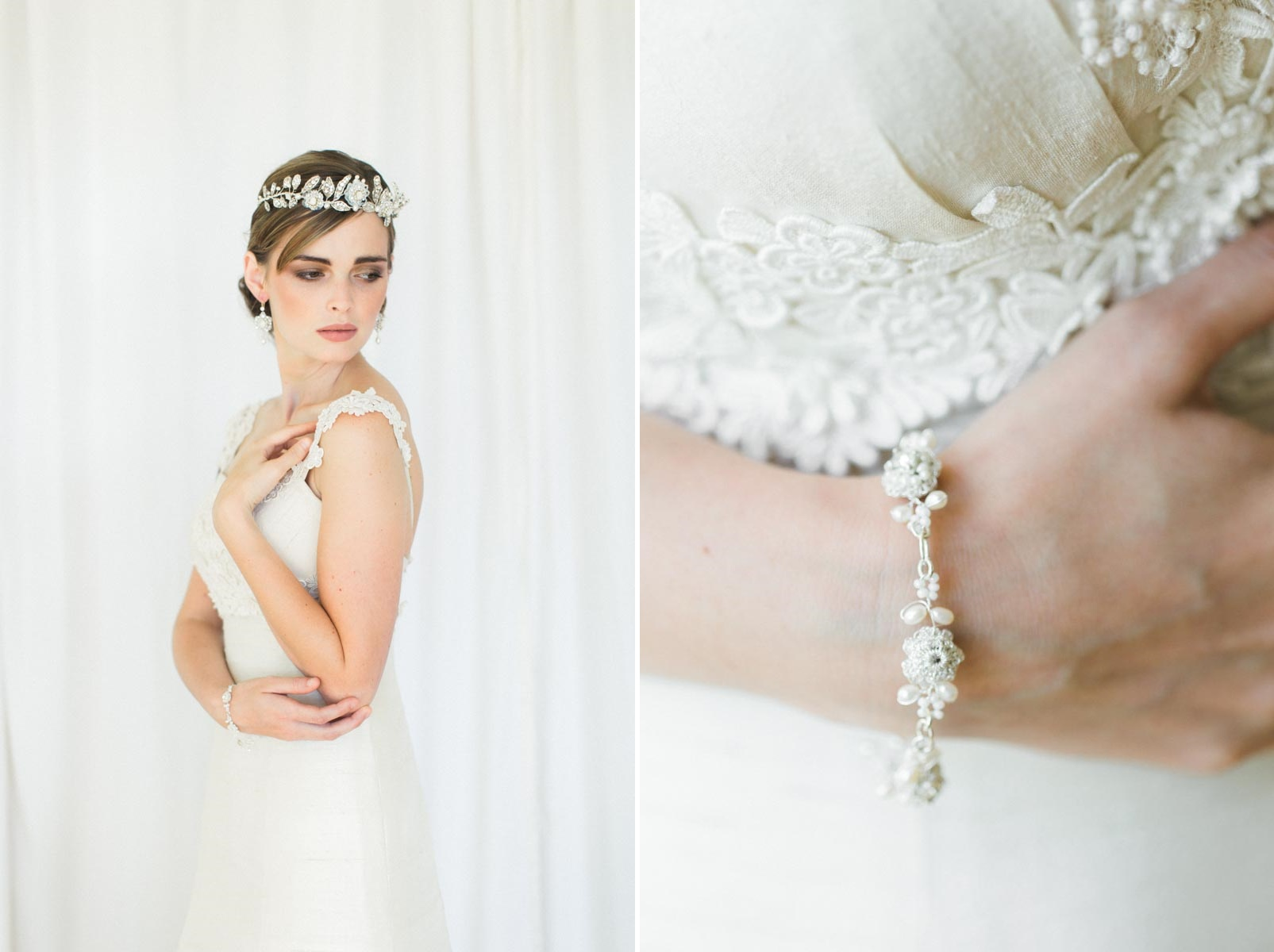 Vintage Inspired Bridal Bracelet from Edera Jewlery