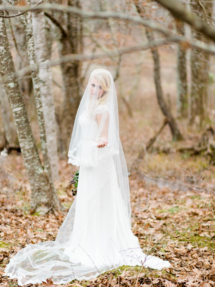 Autumn Woodland Bride // Photography ~ Live View Studios