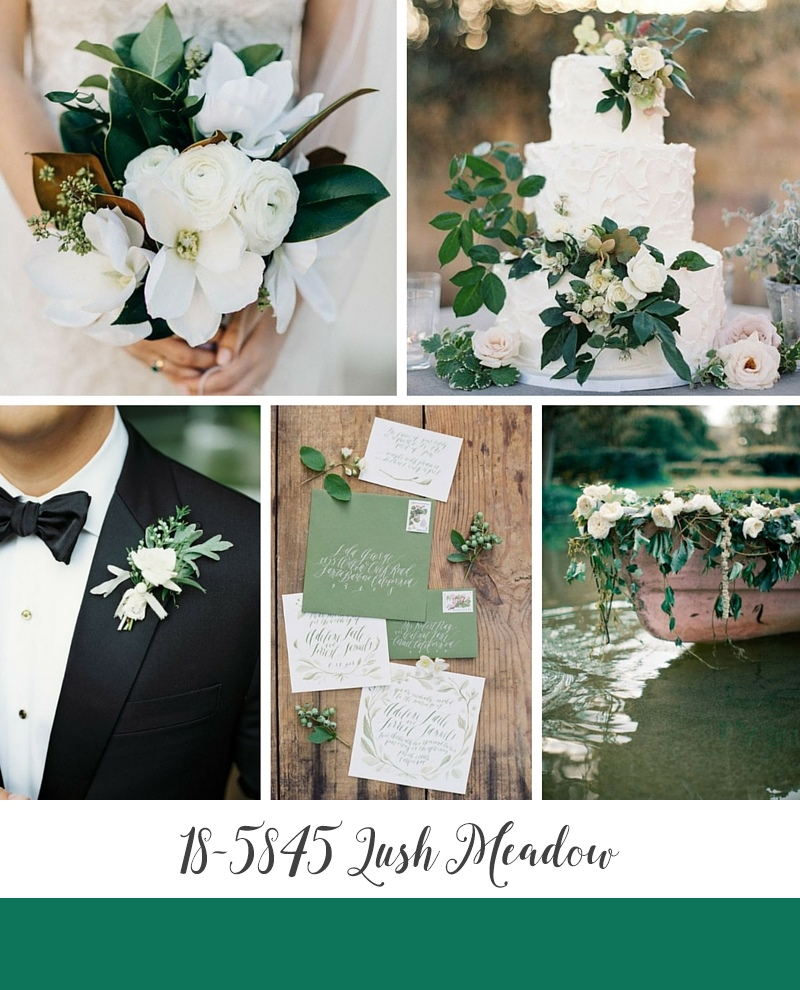 Lush Meadow Green Autumn Wedding Inspiration Board