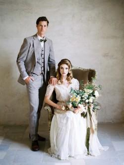 Elegant Edwardian Inspired Bride & Groom // Photography ~ Rachel Solomon Photography