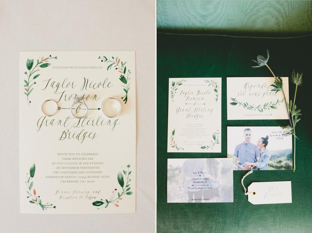 Romantic Wedding Stationery// Photography Onelove Photography