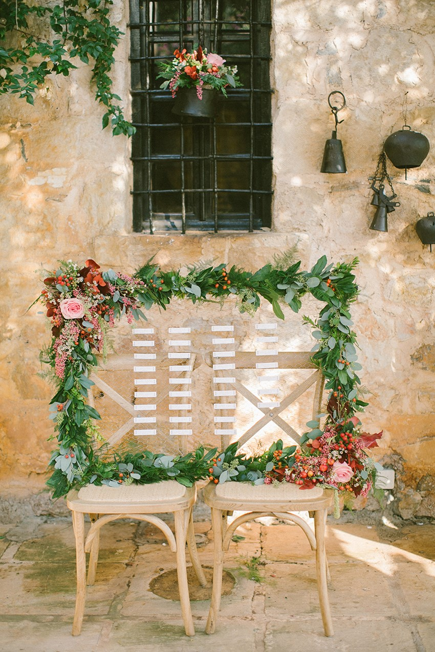 Romantic Vintage Boho Wedding Tableplan // Photography ~ Anna Roussos Photography
