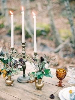 Vintage Woodland Wedding Centrepiece // Photography ~ Live View Studios