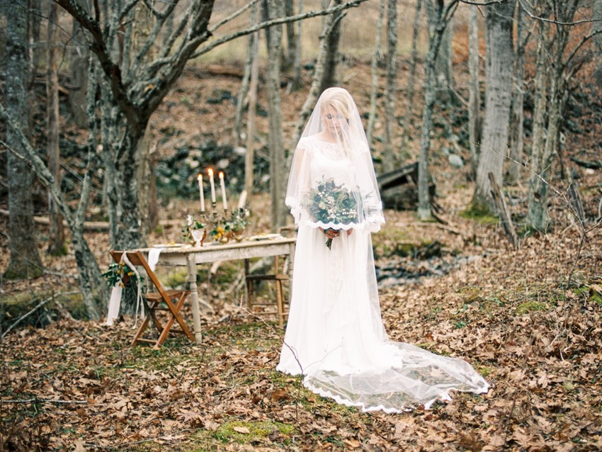 Autumn Vintage Woodland Wedding Inspiration // Photography ~ Live View Studios