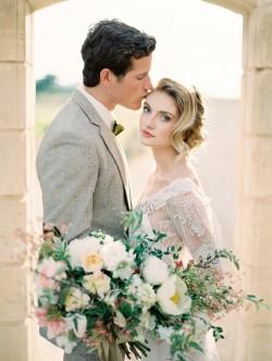 Romantic Modern Vintage Bride & Groom // Photography ~ Rachel Solomon Photography