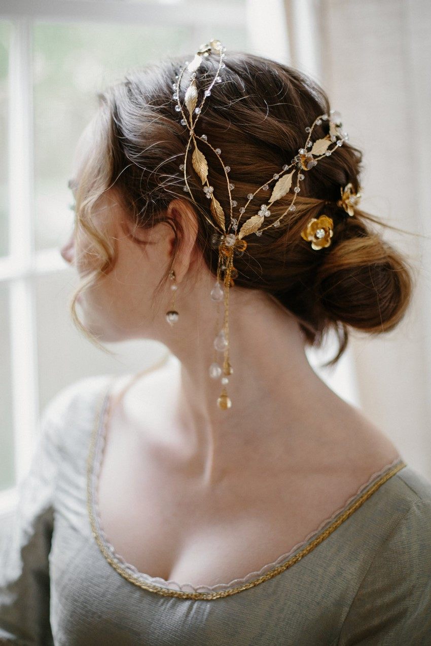 Gold Bridal Accessories from Erica Elizabeth Designs