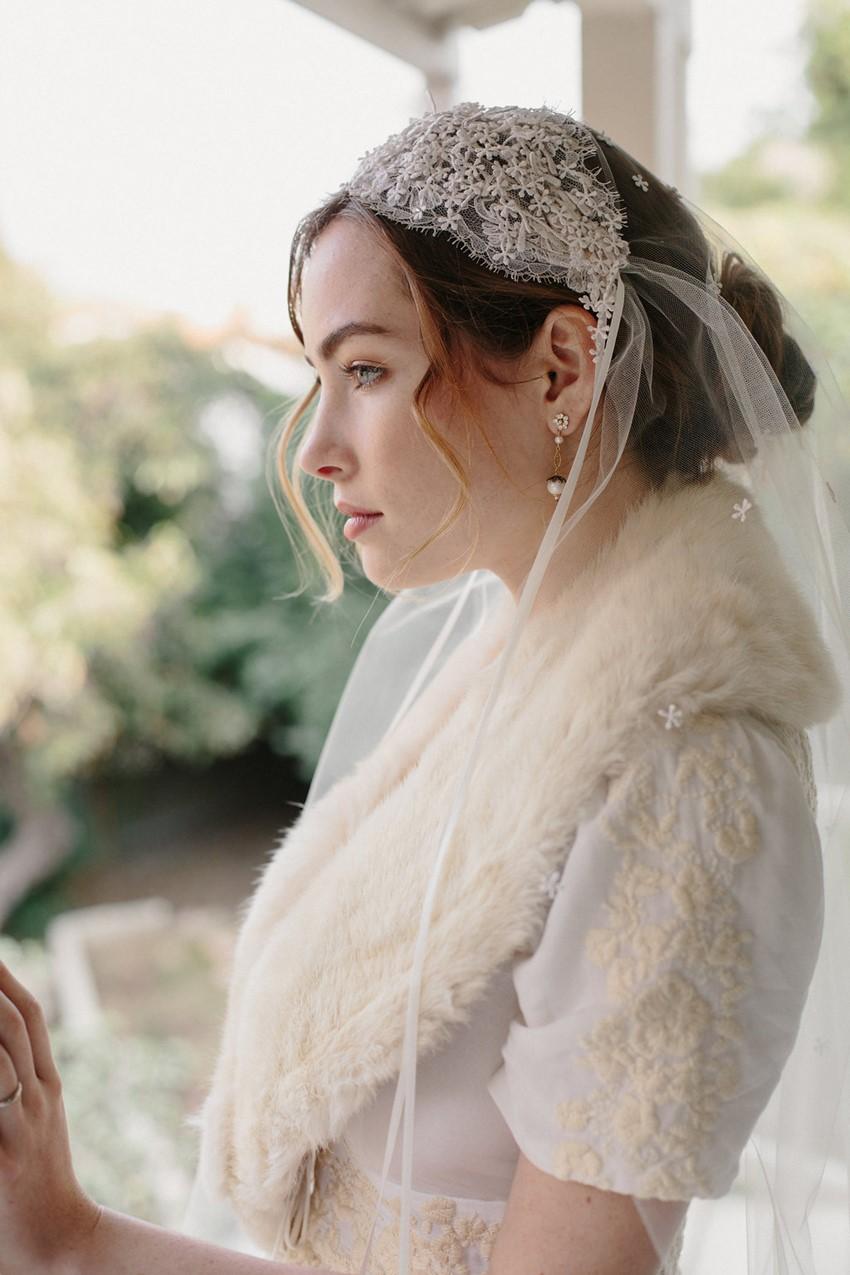 Vintage Inspired Juliet Cap Veil from Erica Elizabeth Designs