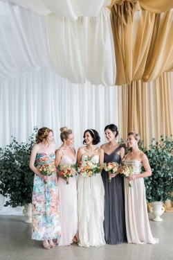 Bride & Mismatched Bridesmaids // Photography ~ Alexis June Weddings