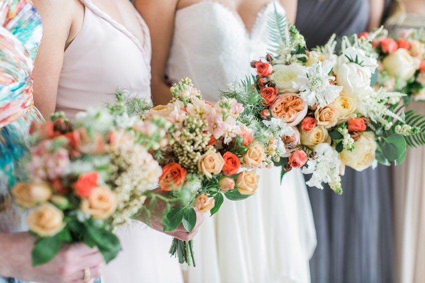Wedding Bouquets of Summer Blooms // Photography ~ Alexis June Weddings