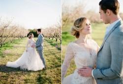 Romantic Springtime Orchard Elopement // Photography ~ Archetype