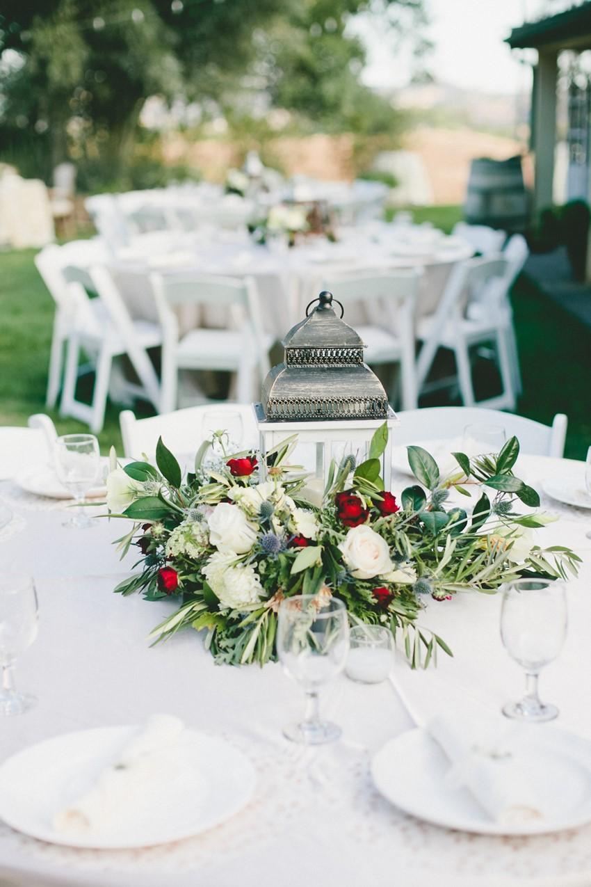 Vintage Lamp Wedding Centrepiece // Photography Onelove Photography
