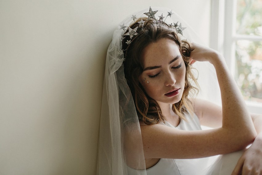 Star Bridal Crown from Erica Elizabeth Designs