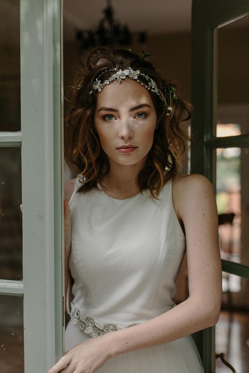 Modern Vintage Bridal Crown from Erica Elizabeth Designs