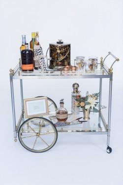 Wedding Drinks Trolley // Photography ~ Alexis June Weddings