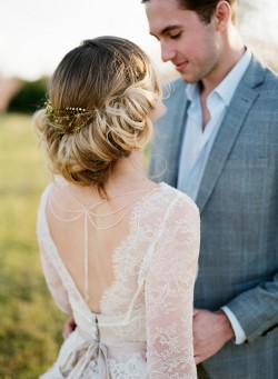 Romantic Springtime Bridal Updo // Photography ~ Archetype