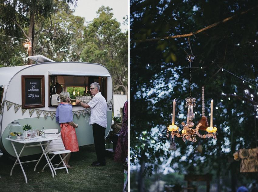 Vintage Caravan Wedding Bar // Photography ~ Brown Paper Parcel