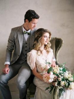 Romantic Vintage Inspired Bride & Groom // Photography ~ Rachel Solomon Photography