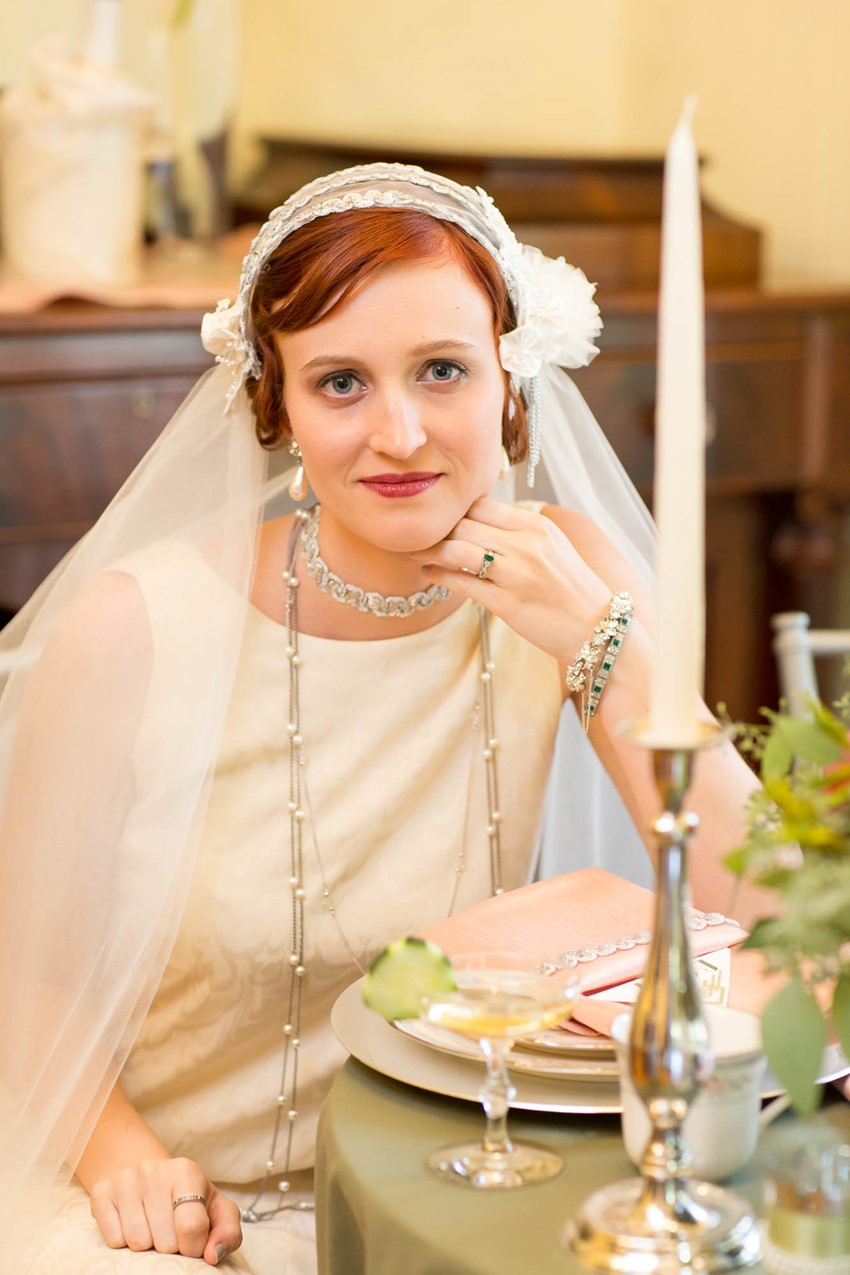 1920s Inspired Bridal Look