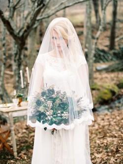 Woodland Bride & Bouquet // Photography ~ Live View Studios