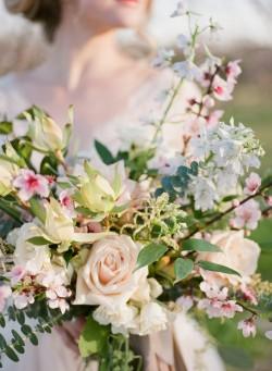 Romantic Springtime Bridal Bouquet // Photography ~ Archetype