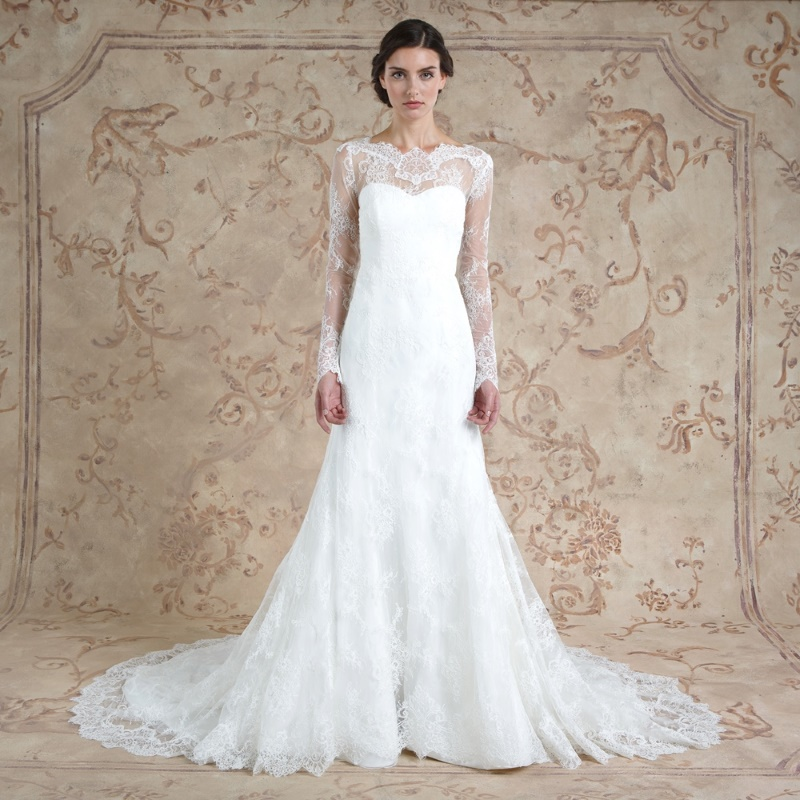 30 of the most beautiful long sleeve wedding dresses for for Long sleeve lace wedding dresses